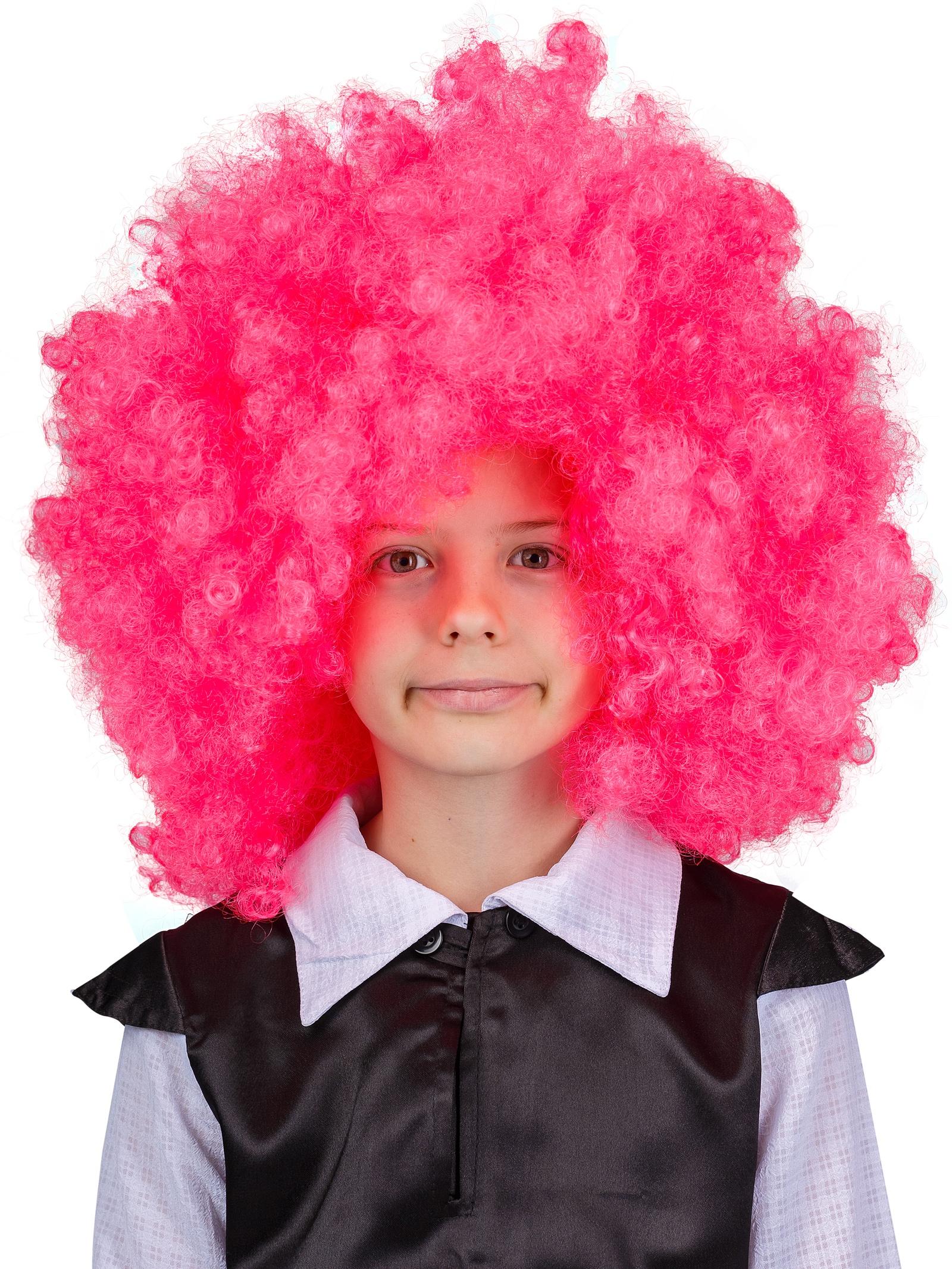 """Аксессуар для карнавального костюма Gala-Вальс Парик """"Клоун"""", розовый"""