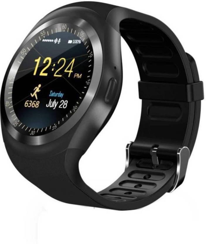 лучшая цена Умные часы No Name Y1, смарт-часы с сенсорным экраном, черный