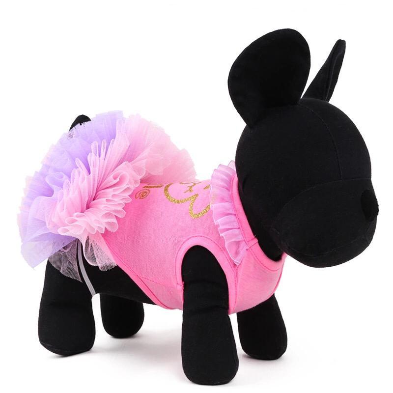 Одежда для собак Arnydog Платье Мишка розовое, розовый
