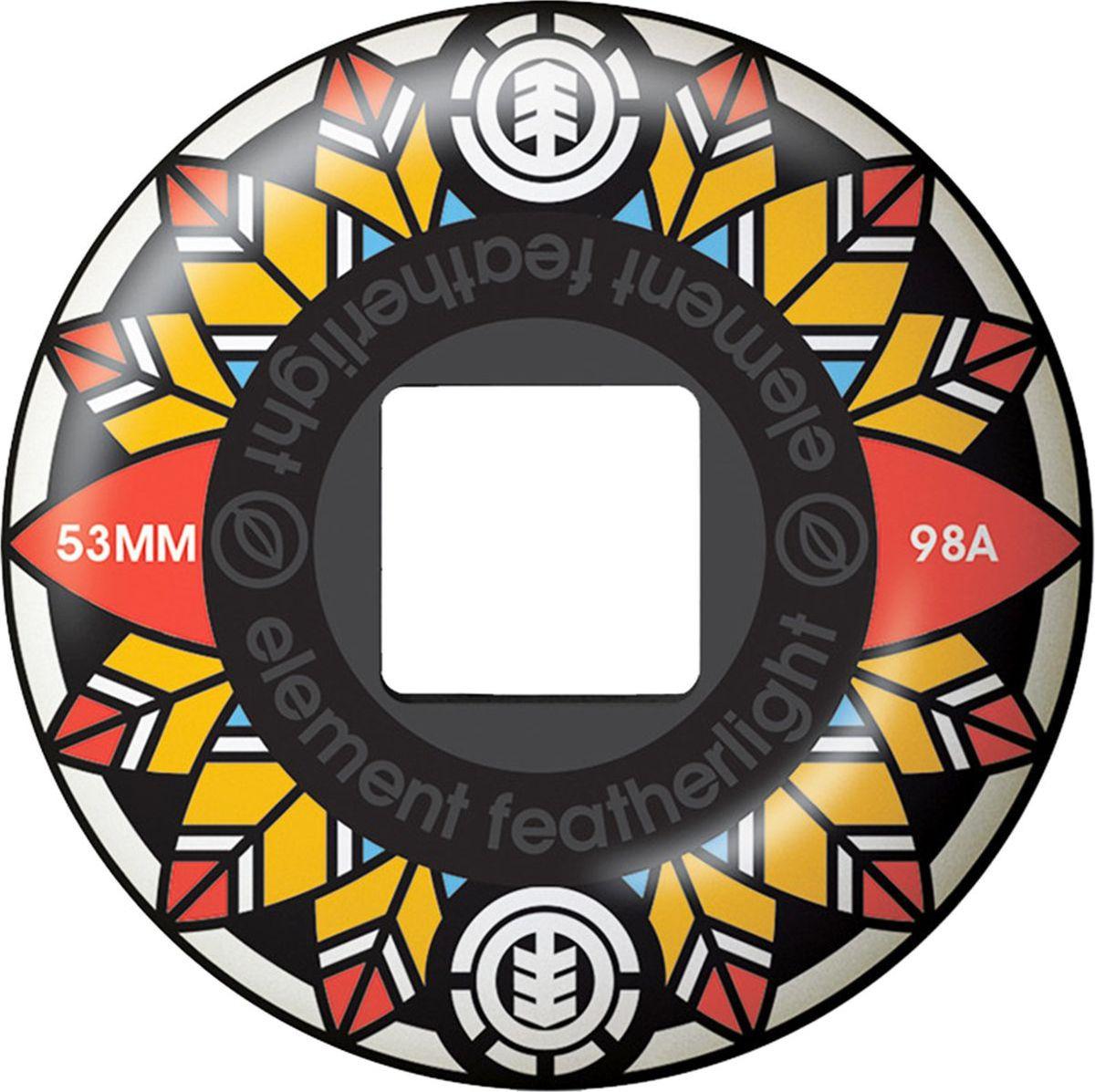Колеса для скейтборда Element Feathers, N4WHA3-ELP9-1, 53 мм, 4 шт колеса для скейтборда для лонгборда sunset wheel with abec9 smoke 78a 59 mm