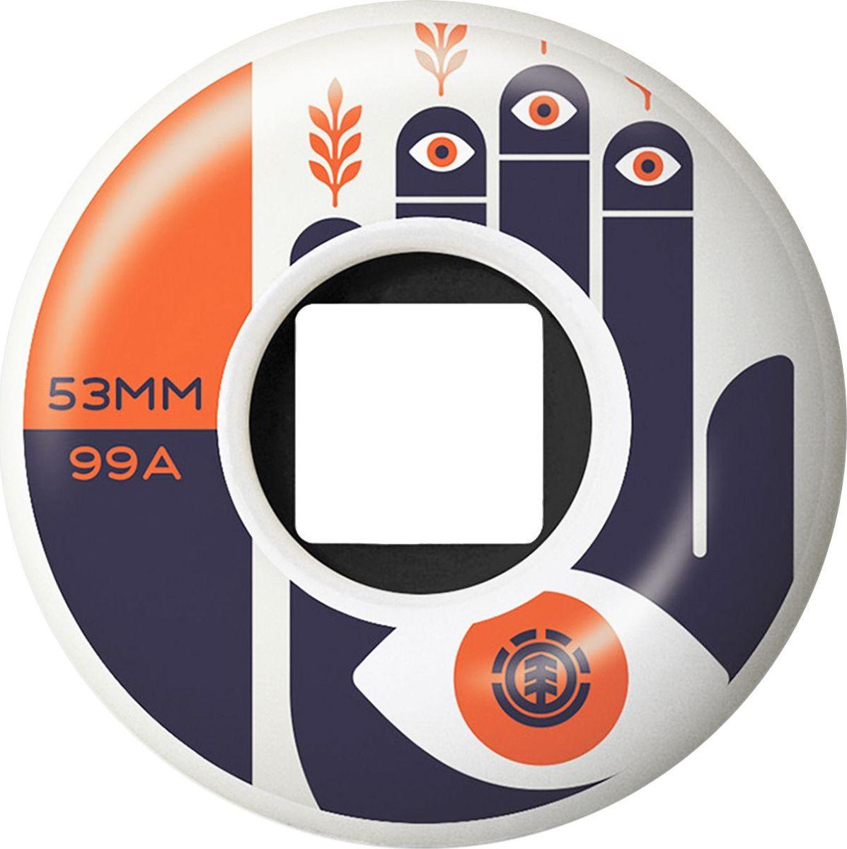 Колеса для скейтборда Element Woke, N4WHB1-ELP9-1, 53 мм, 4 шт колеса для скейтборда для лонгборда sunset wheel with abec9 smoke 78a 59 mm