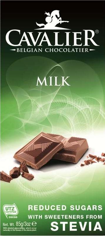 Шоколад Cavalier Бельгийский молочный БЕЗ САХАРА со СТЕВИЕЙ, 85 tatonka cavalier