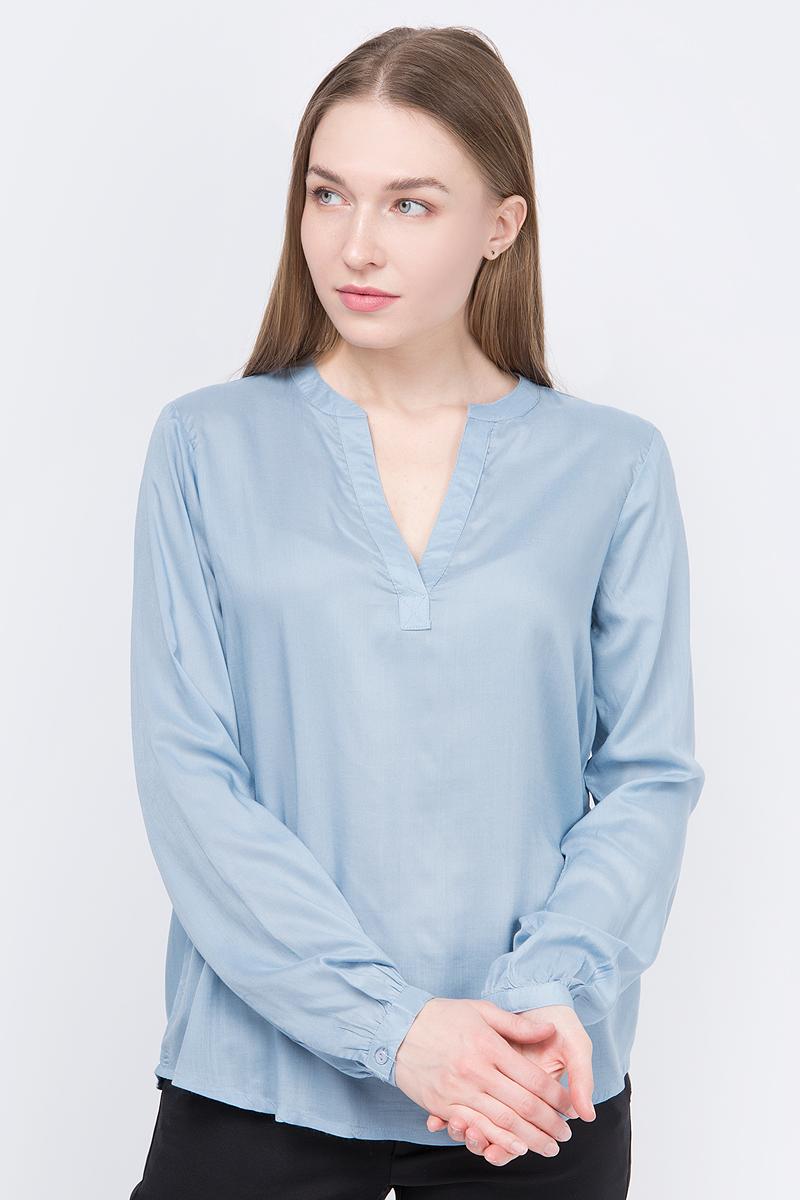 Блузка женская Kaffe Tilly, цвет: синий. 10501645_51499. Размер 36 (42)10501645_51499