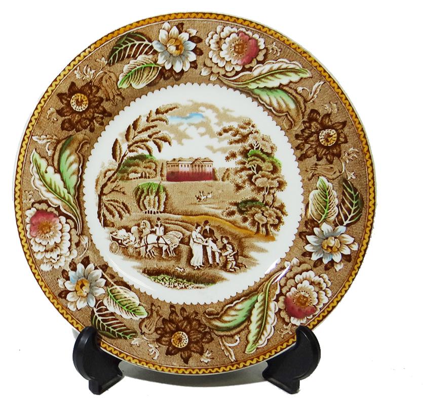 Декоративная тарелка Усадьба. Фарфор, роспись. Woodland, Англия. вторая половина XX века woodland рамка вкладыш woodland кто где живёт