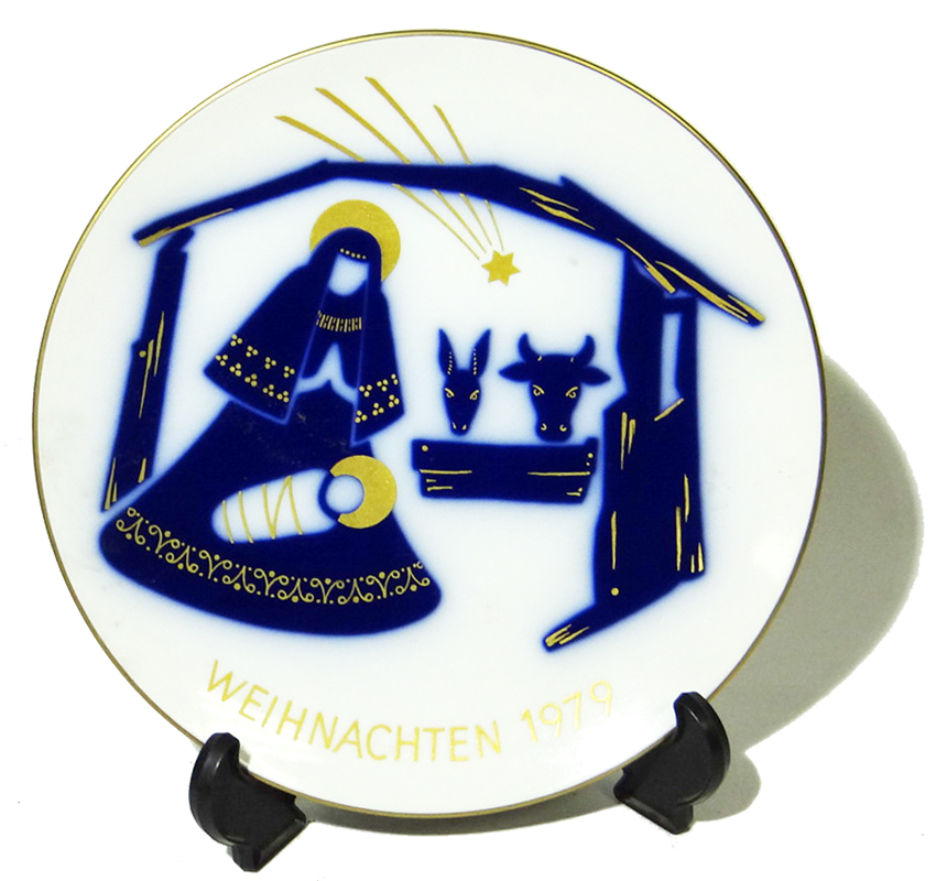 Декоративная тарелка Рождество. 1979. Фарфор, роспись. KPM, Германия. 70-80 гг