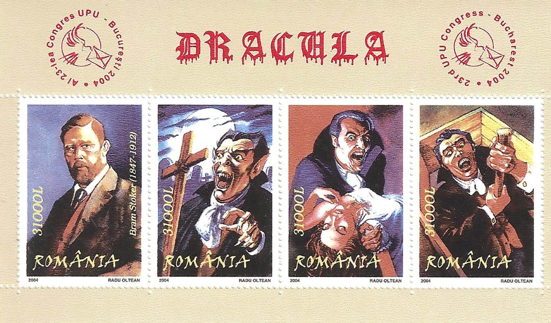 Блок марок Дракула. Румыния , 2004ЗАЮ-марки-2019-162Блок марок Дракула. Румыния , 2004