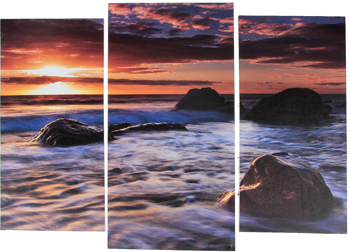 Картина Камни в море, модульная, 3981641, 60 х 80 см цена