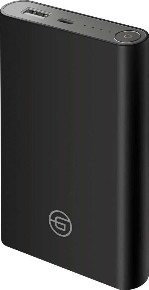 Внешний аккумулятор Ginzzu GB-3908B 8000 мАч, черный 5600mah power bank usb блок батарей 2 0 порты usb литий полимерный аккумулятор внешний аккумулятор для смартфонов синий черный