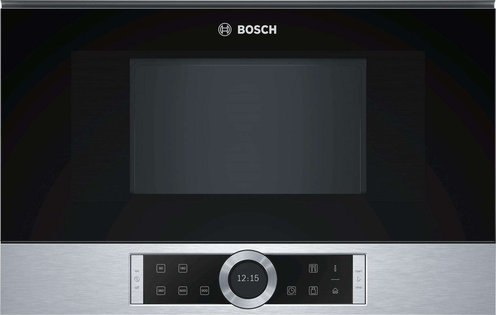 Микроволновая печь Bosch BFL634GS1, черный, серебристый микроволновая печь bbk 23mws 927m w 900 вт белый