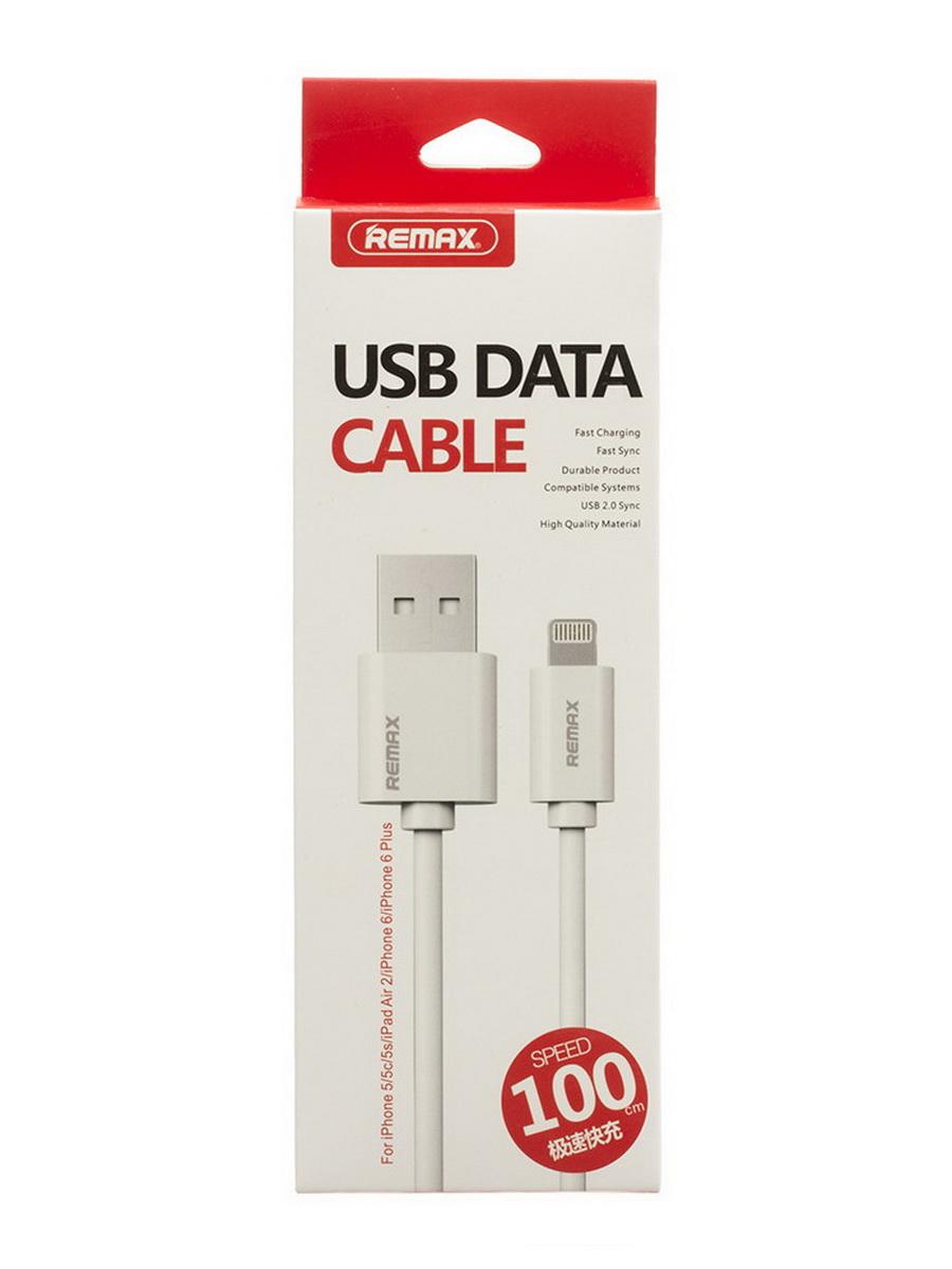 Кабель REMAX Дата-кабель lightning USB, белый гибкий кабель для мобильных телефонов 50pcs lot 100
