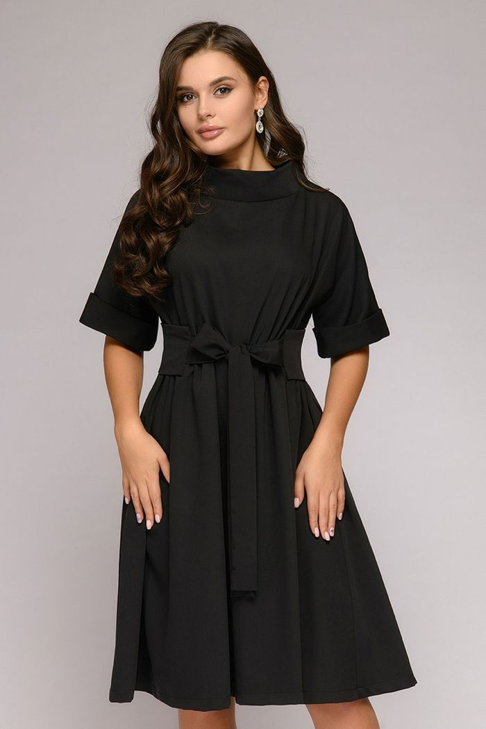 Платье 1001 Dress vilshenko черное платье с ажурным верхом