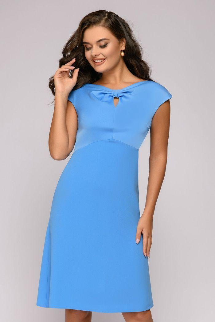 Платье 1001 Dress танцевальное платье голубое 40 44