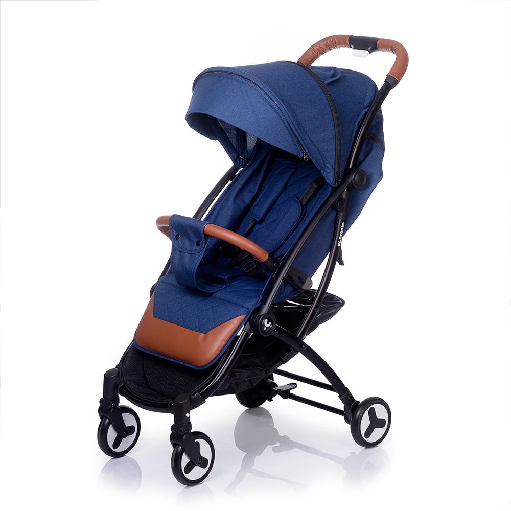 Коляска прогулочная Acarento PLAZA темно-синий корзина алюминиевая 1200x800