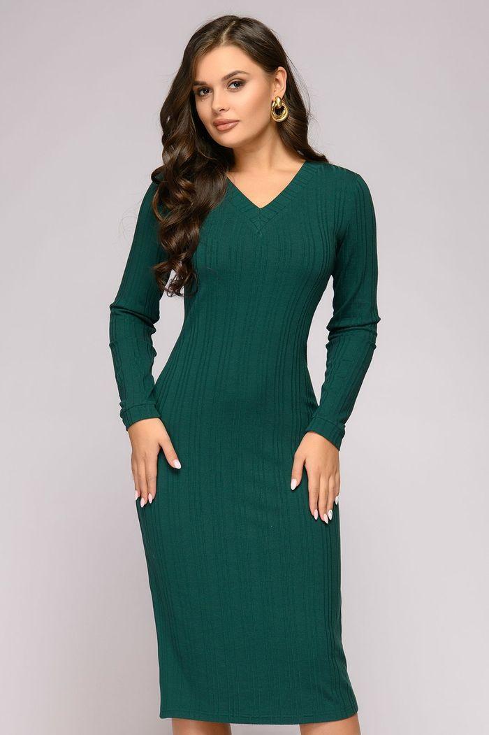 Фото - Платье 1001 Dress v neck belt plaid swing dress