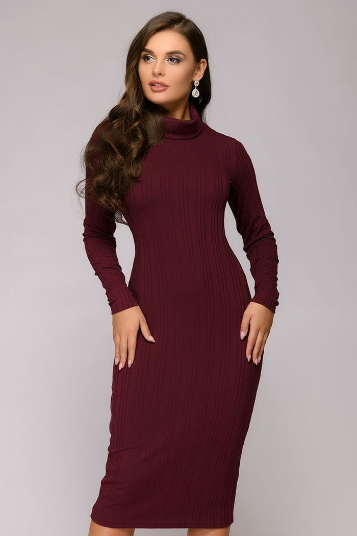 Платье 1001 Dress платье трикотажное блис бордовое