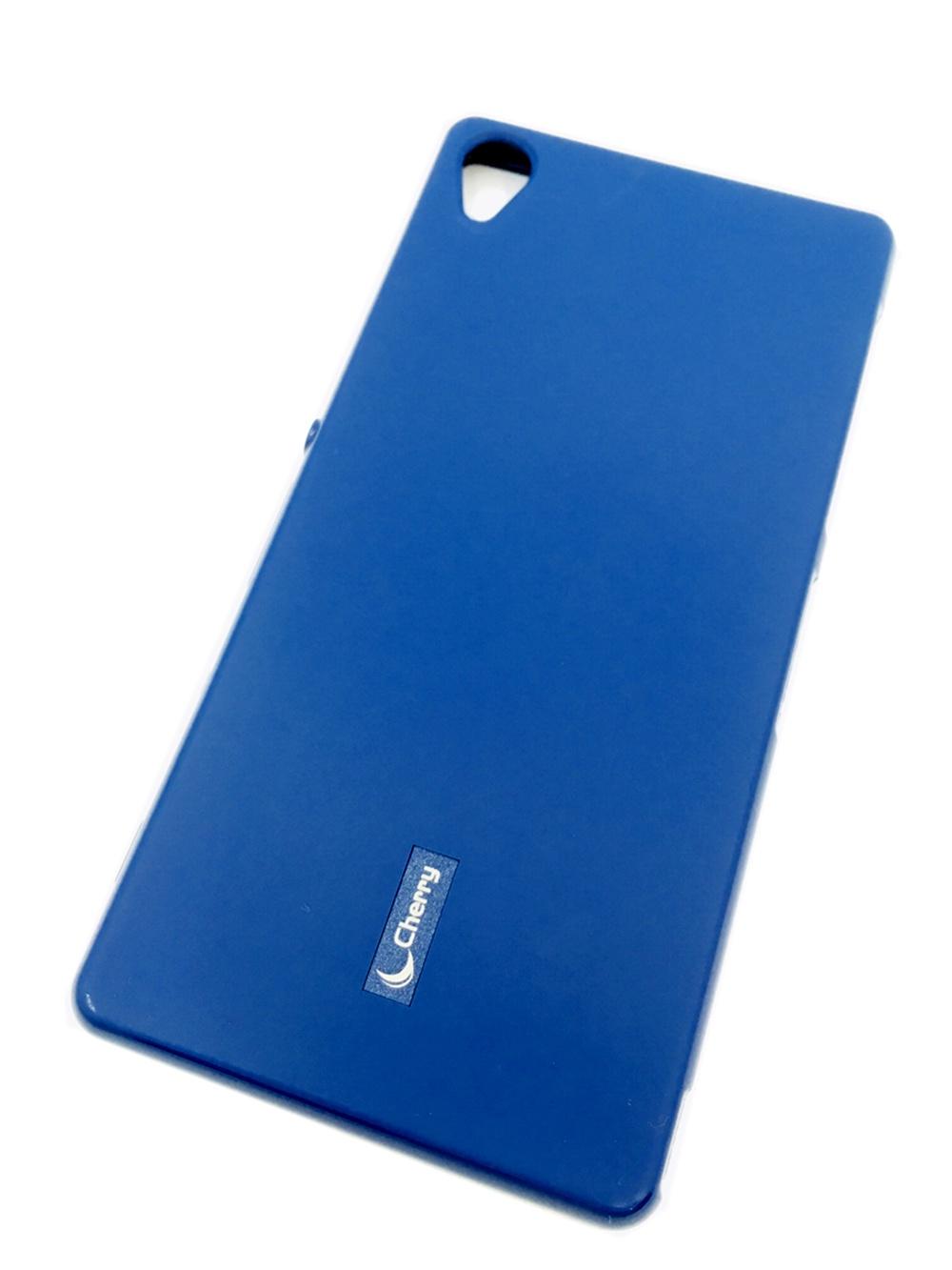 Чехол для сотового телефона Cherry Sony Z3 Накладка резиновая с пленкой на экран, синий