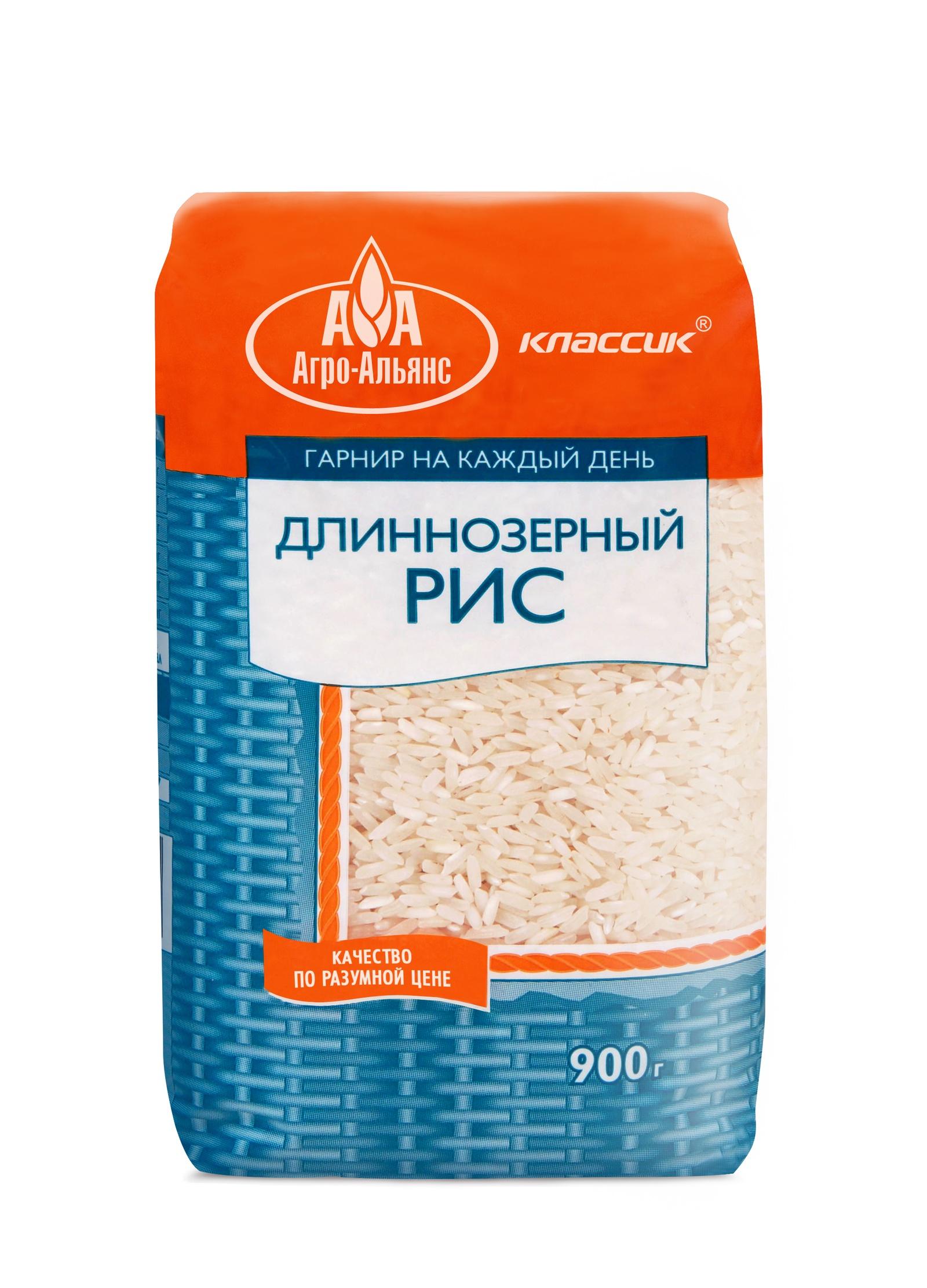 Рис Агро-Альянс Длиннозерный Классик, 900 г националь рис длиннозерный пропаренный золотистый 900 г