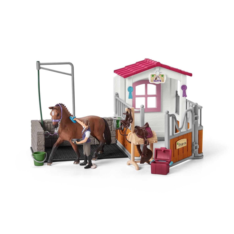 Фигурка Schleich 42404 Набор для мойки лошадей со стойлом schleich конюх и исландский пони