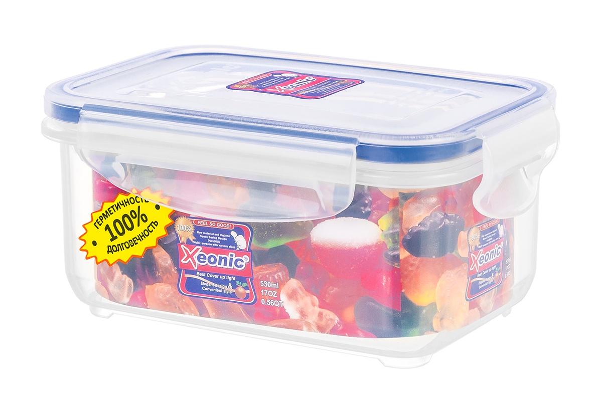 Контейнер пищевой Xeonic 810029, Силикон, Полипропилен available from 10 11 container food rectangular xeonic 530 ml xeonic 810029