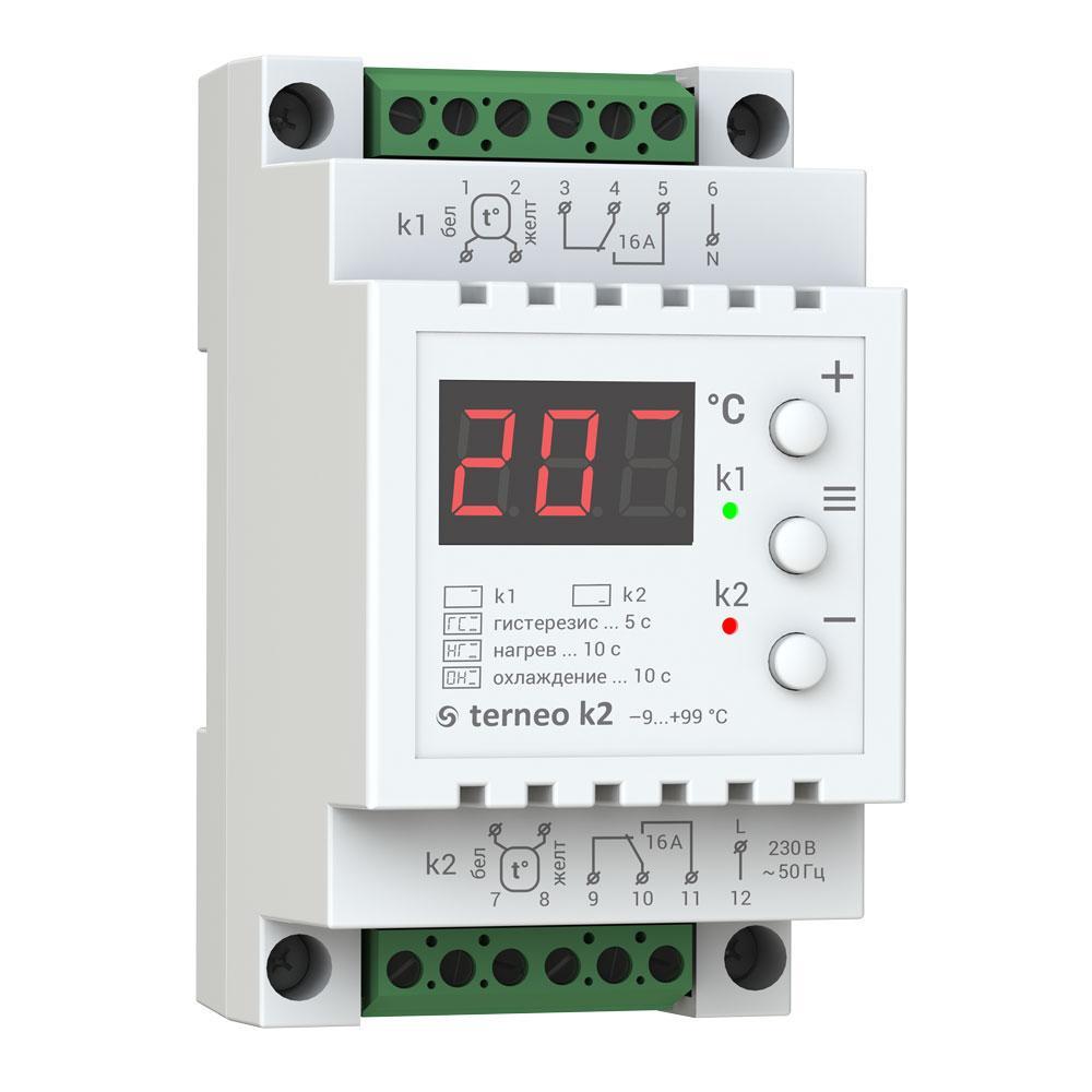 Регулятор теплого пола Terneo Терморегулятор k2 регулятор теплого пола terneo терморегулятор pro
