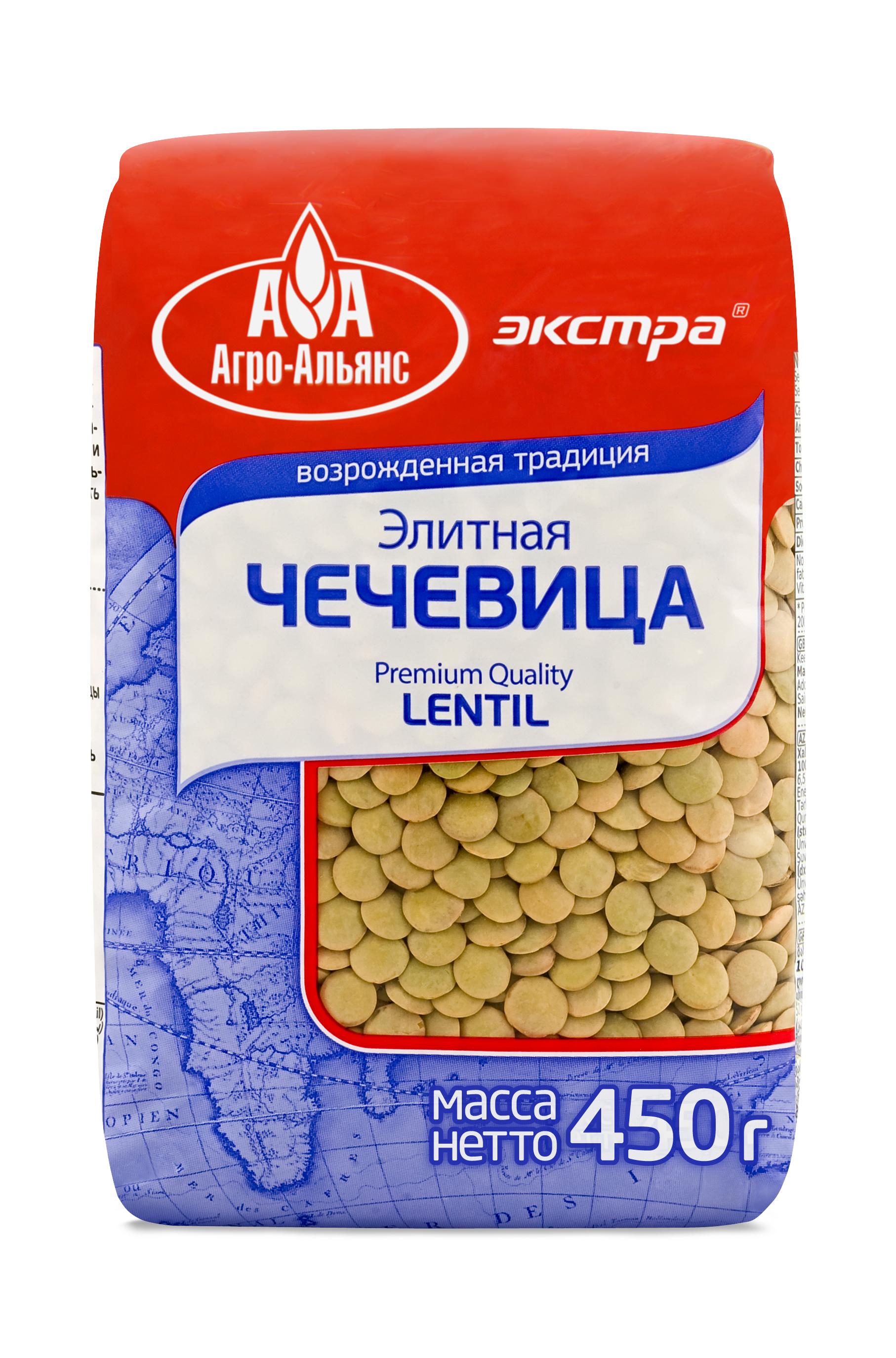 Чечевица Агро-Альянс элитная Экстра, 450 г