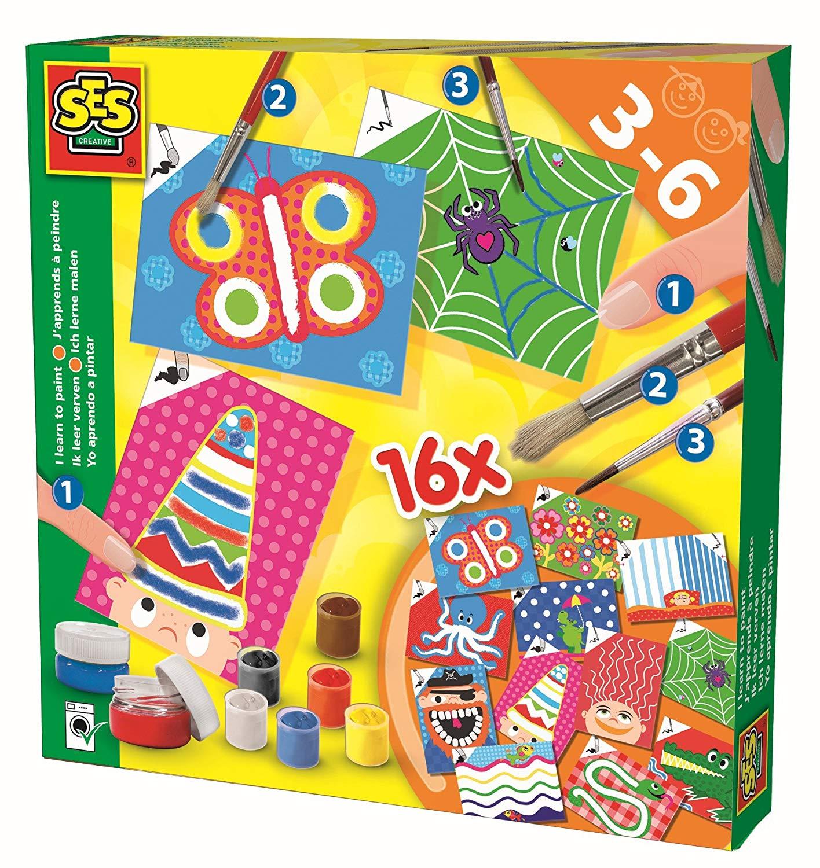 Развивающая игрушка SES creative Набор Учусь раскрашивать 14837 наборы для рисования лавка чудес набор для раскрашивания надувной игрушки лошадка