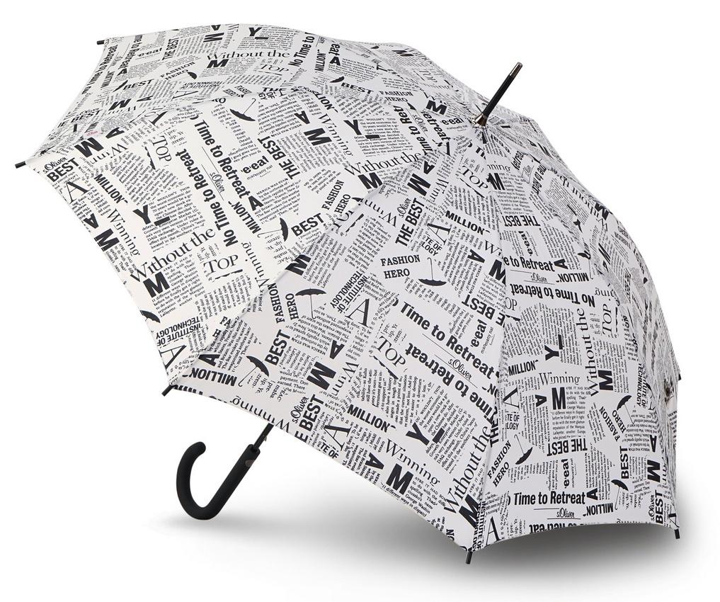 Зонт S.Oliver LOOK GOOD NEWS, белый news