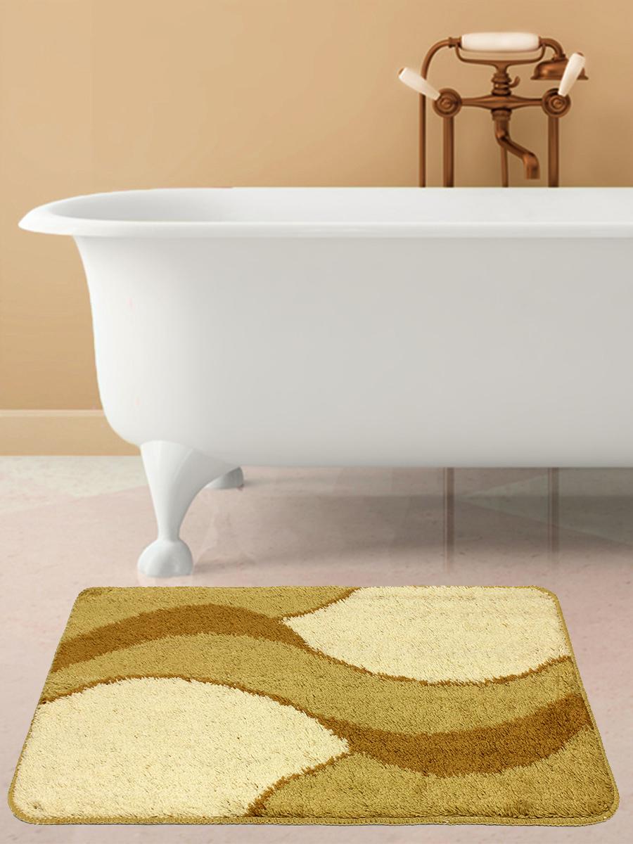 Коврик для ванной mr. Penguin RGS414L/1, бежевый, коричневый аксессуары для ванной и туалета luxberry коврик для ванной art 1 цвет бежевый коричневый 70х120 см
