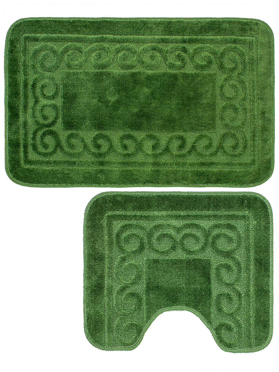 Набор ковриков для ванной Mr.Penguin BF003/2, зеленый