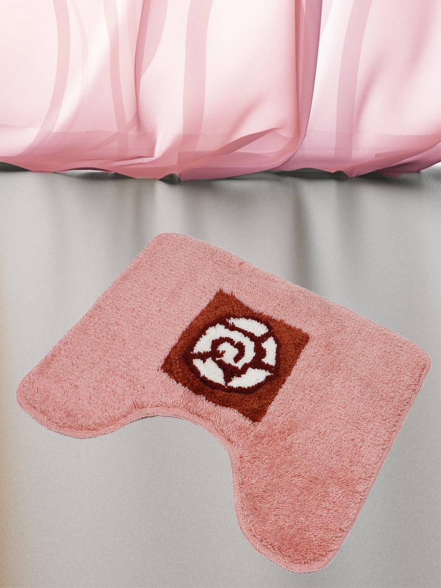 Коврик для туалета mr. Penguin RGS405A/0, розовый коврик для туалета mr pinguin узоры синий белый