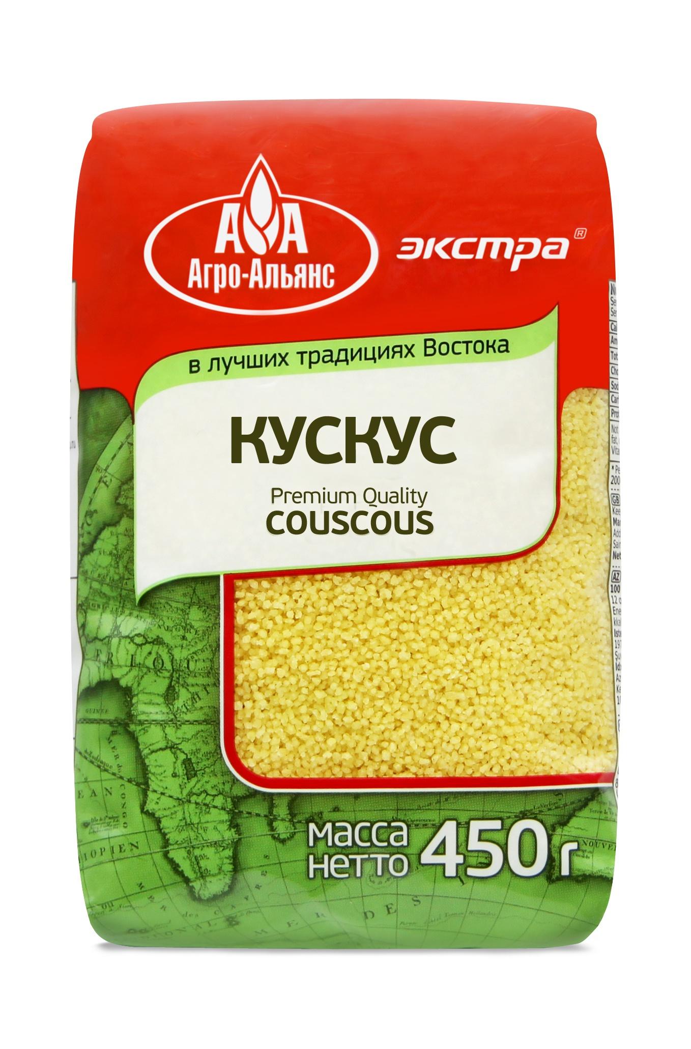 Кускус Агро-Альянс Крупа пшеничная Экстра, 450 г