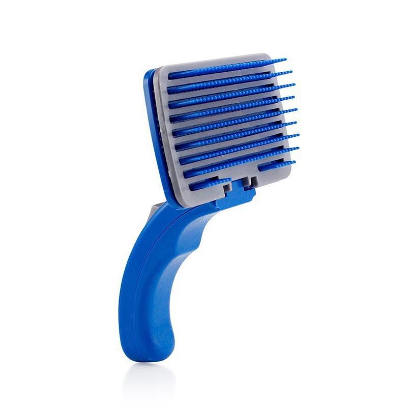 Щетка для животных Migliores Самоочищающаяся щётка для животных, синий золюкс щетка пуходерка самоочищающаяся м 481111