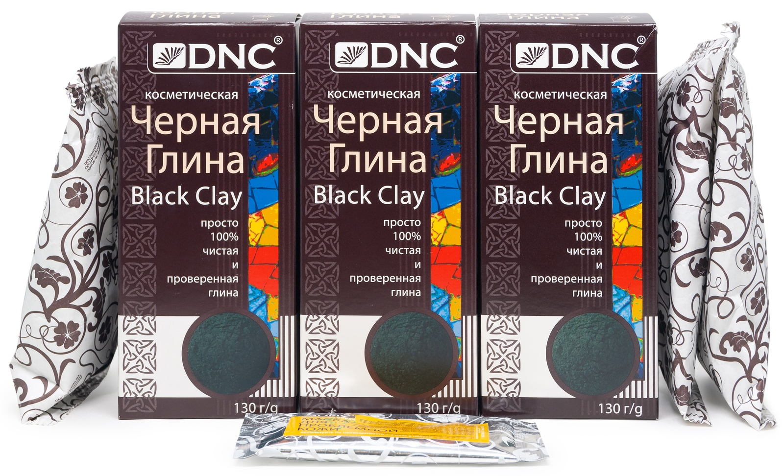 Набор: DNC Глина Черная DNC 130 г * 3 шт + Подарок Маска для лица 15 мл