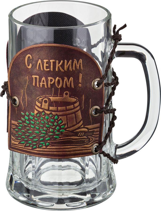 Кружка пивная Agness Баня, 352-006, коричневый, 600 мл стоимость