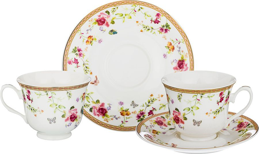 Набор чайный Lefard, 165-474, мультиколор, 220 мл, 4 предмета набор чайный на 2 персоны c622as622a l6 yg01 2 розовый 4 предмета