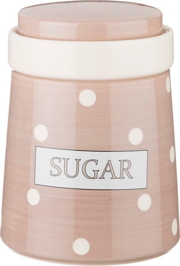 Банка для сыпучих продуктов Lefard Sugar Pink, 230-150, розовый, 700 мл банка для сыпучих продуктов 1100 мл 756451