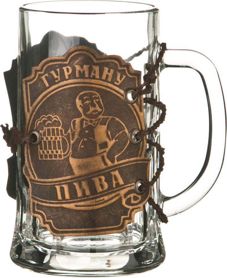 Кружка пивная Agness Гурману пива, 352-220, коричневый, 600 мл стоимость