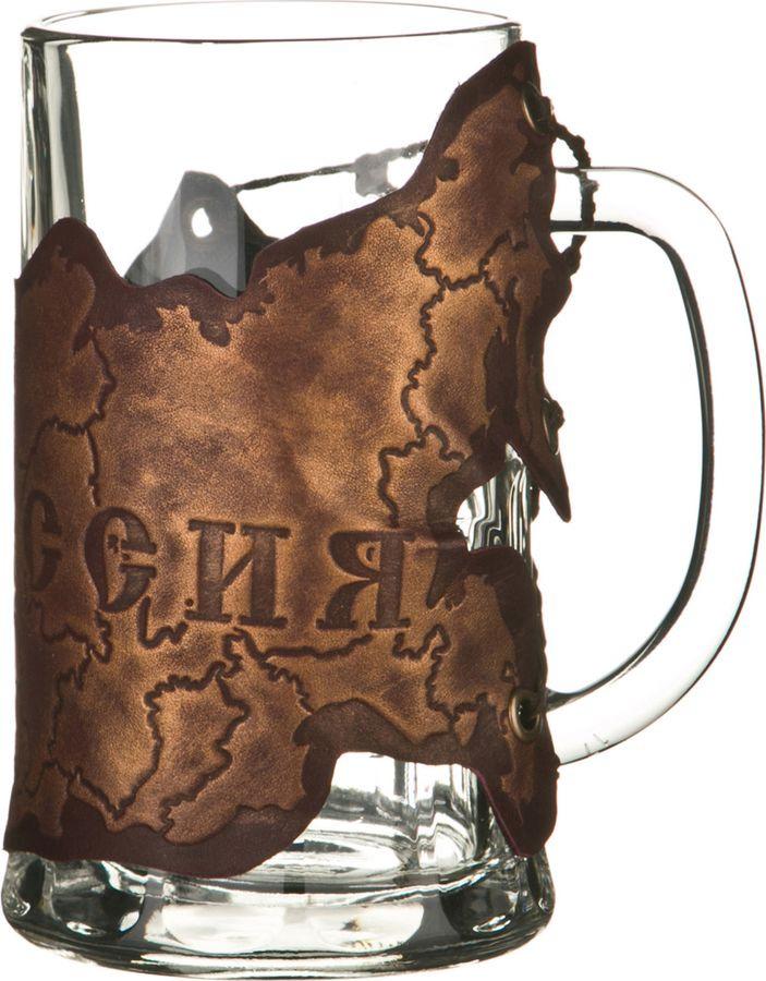 Кружка пивная Agness Карта России, 352-159, коричневый, 600 мл стоимость