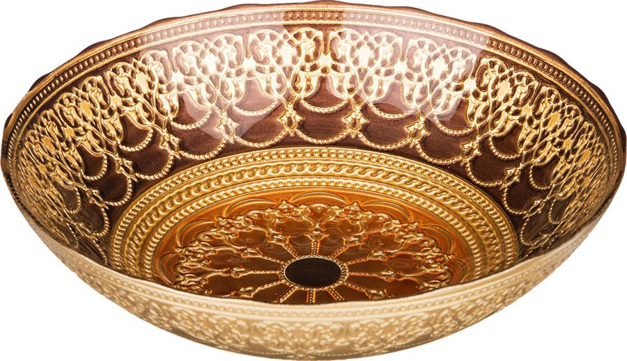 Салатник Agness Шахерезада, 484-095, золотой, диаметр 25 см
