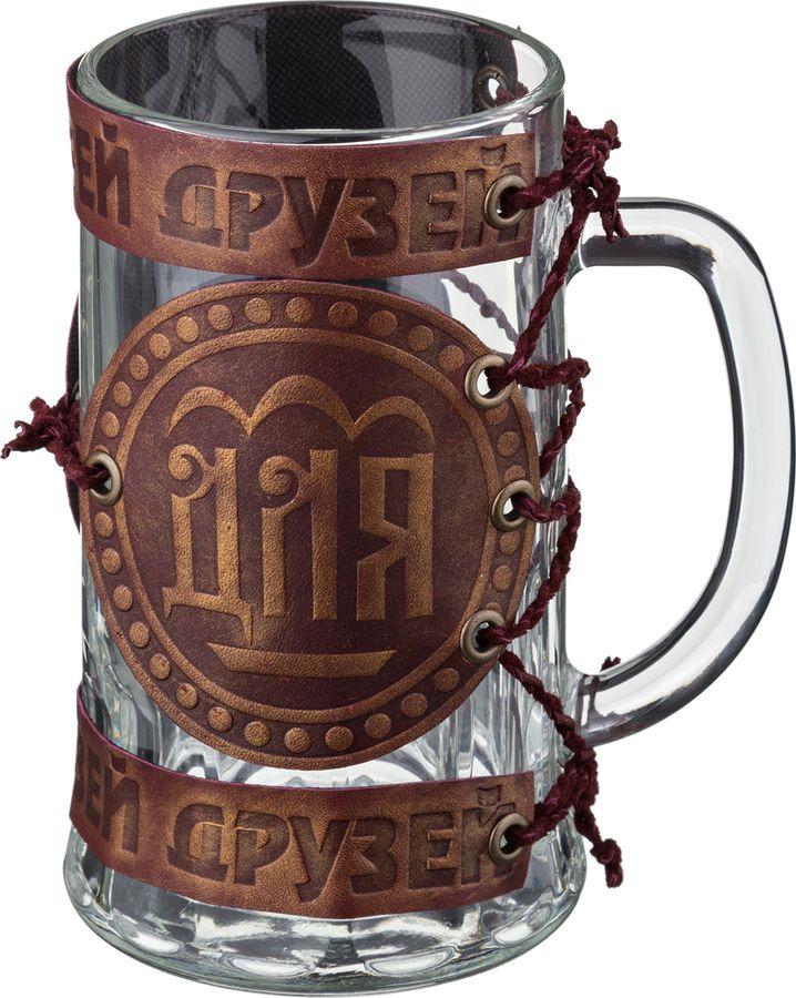 Кружка пивная Agness Для друзей, 352-145, коричневый, 600 мл стоимость