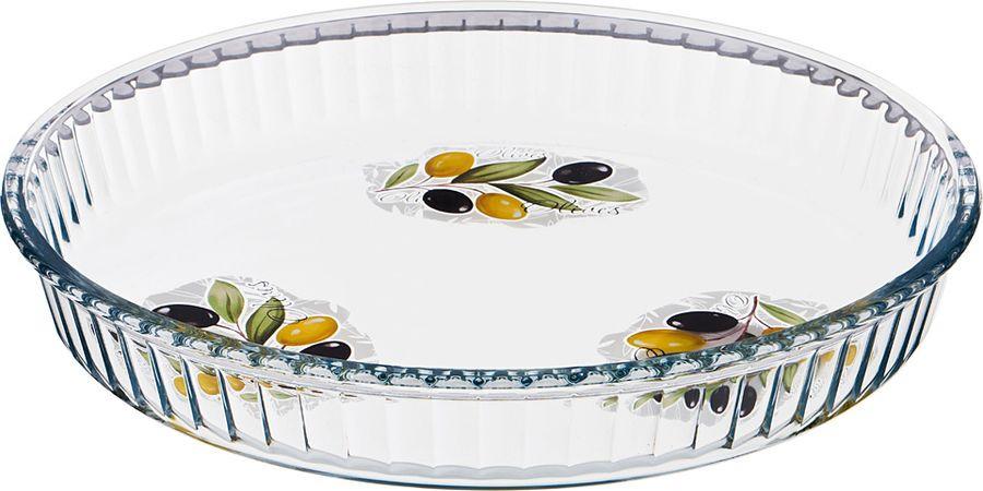 Форма для запекания Agness Оливки, 484-603, прозрачный, 32 х 32 х 5 см