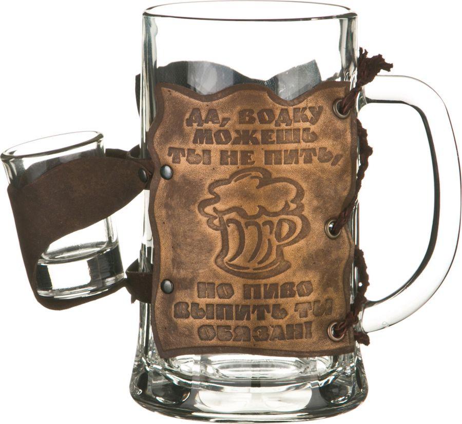 Набор питьевого стекла Agness 8 литров на ночь, 352-271, коричневый 2 предмета