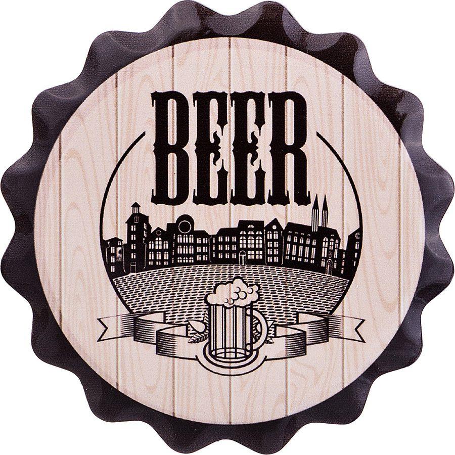 Подставка кухонная Lefard Beer под пивную кружку, 229-373, мультиколор, диаметр 11 см подставка под кружку коала на облачке пч2018 020