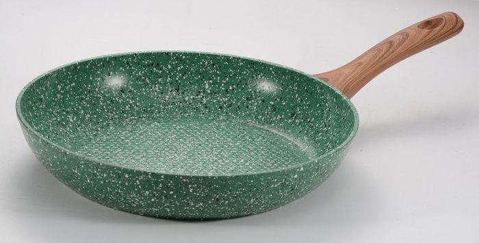 Сковорода Vissner, VS-7554-26, с мраморным покрытием, светло-коричневый, диаметр 26 см сковорода сотейник vissner vs 7451 22 см