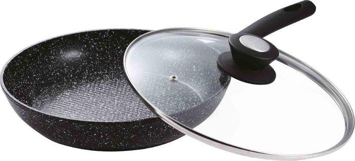 Сковорода Vissner, VS-7502-24, с мраморным покрытием, черный, диаметр 24 смVS-7502-2424см, внутри мраморное антиприг. покрытие, снаружи: жаропрочн. мраморное покрытие.Ручка в цвет сковороды. Стеклянная крышка. Подходит для использов. на индукционной плите и в посудомоечной машине. Без инд. упаковки. Состав: алюминий.