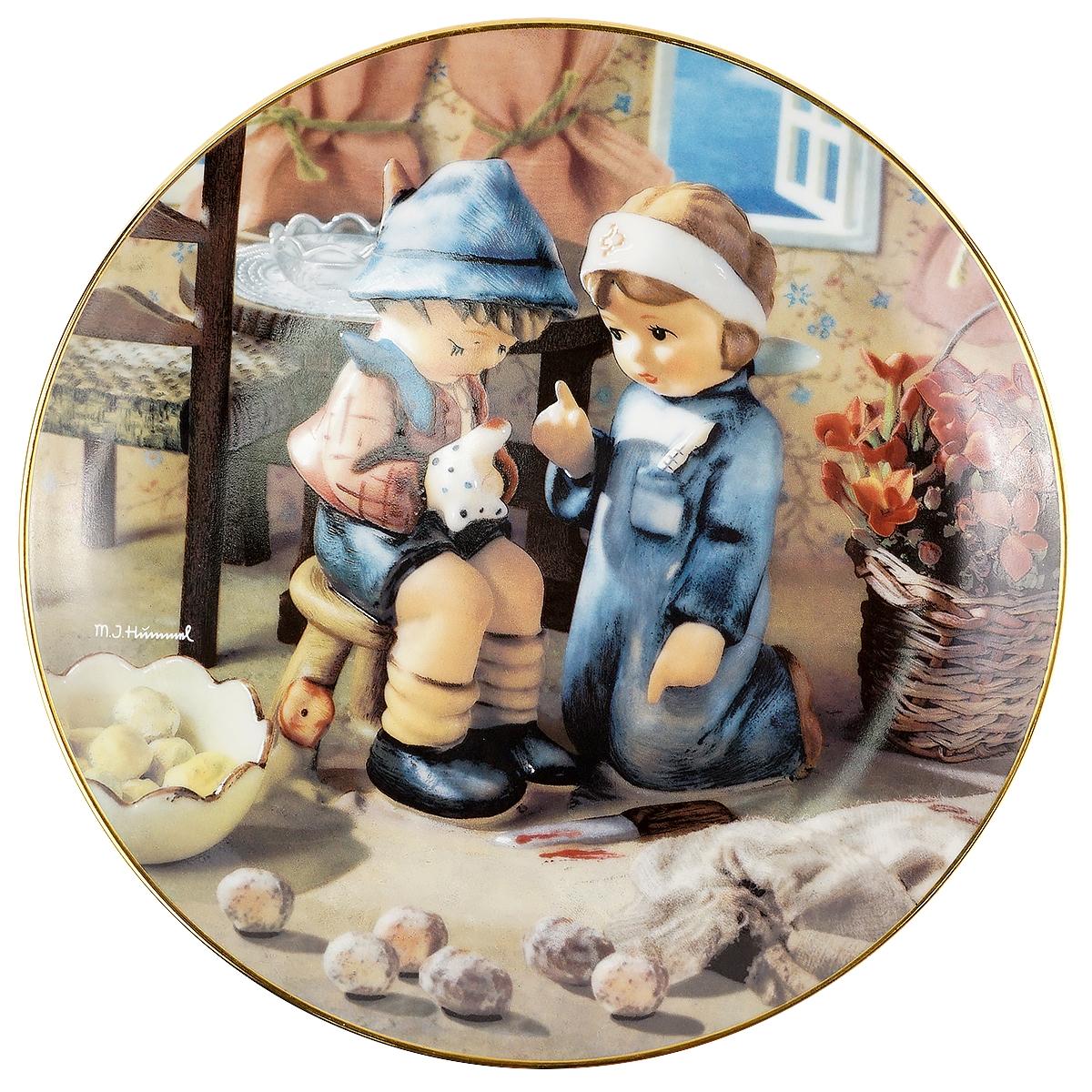Декоративная тарелка Goebel Любовь и забота. Фарфор, деколь, золочение. Швейцария, вторая половина ХХ века чайный сервиз сорренто на 3 персоны 12 предметов фарфор деколь золочение royal albert великобритания вторая половина хх века