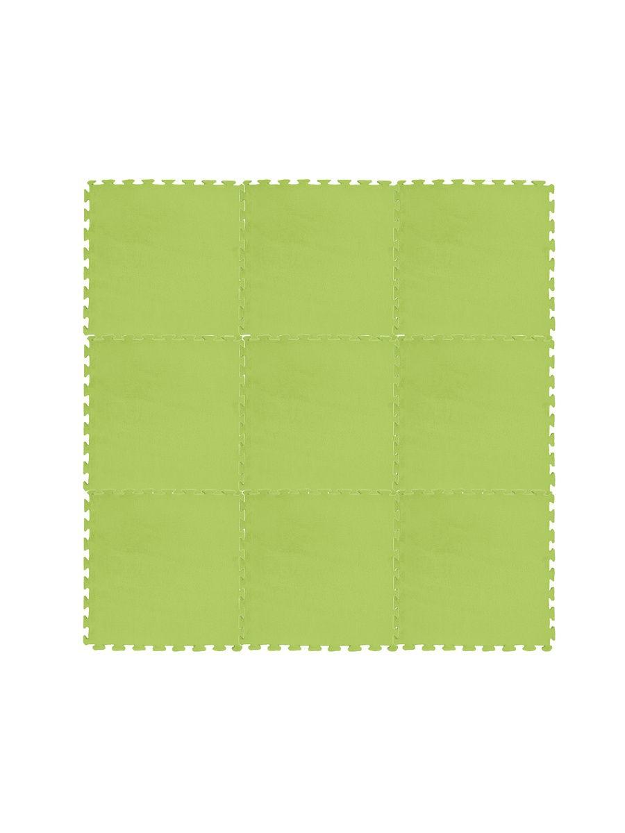 Коврик-пазл декоративный для детей MD01-16 салатовый Meitoku 9 деталей