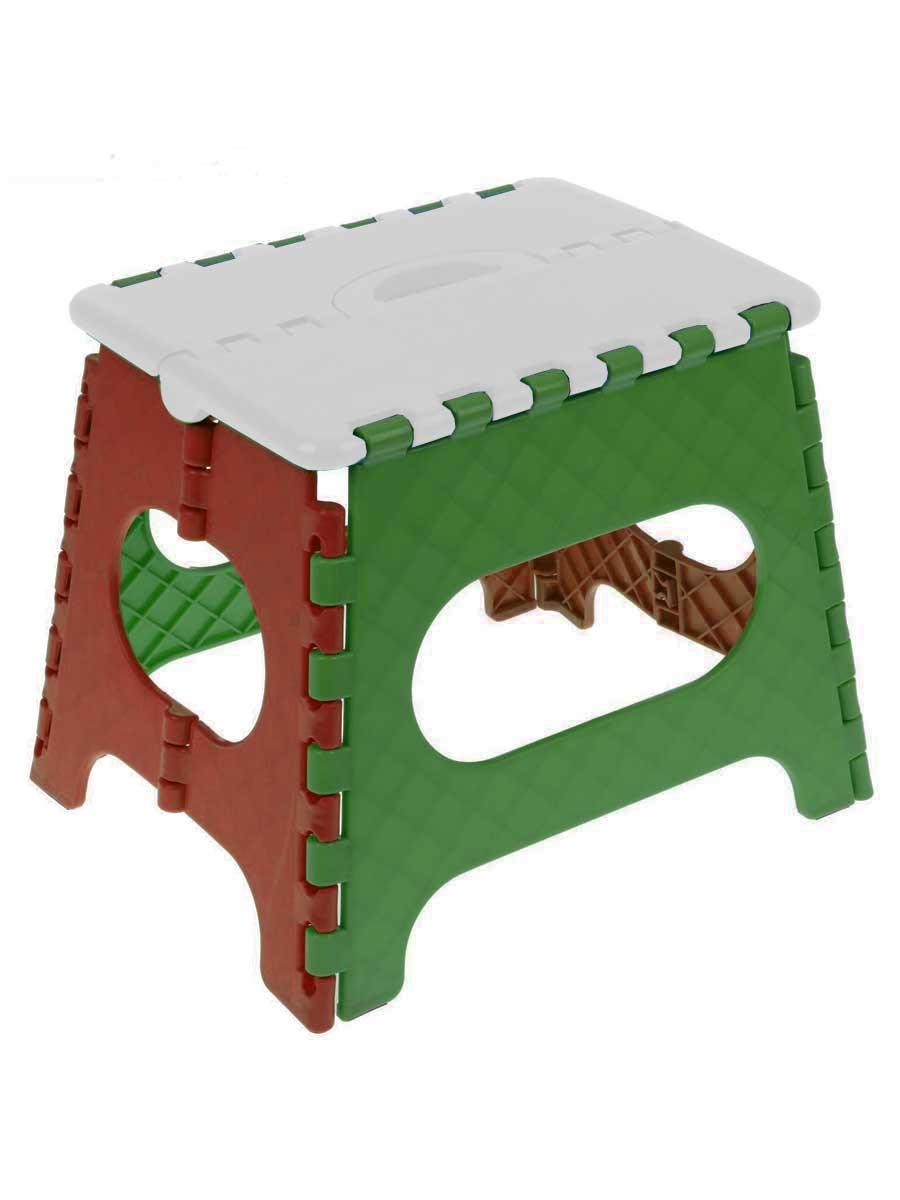 Табурет складной Трикап Табурет средний, белый, зеленый, красный