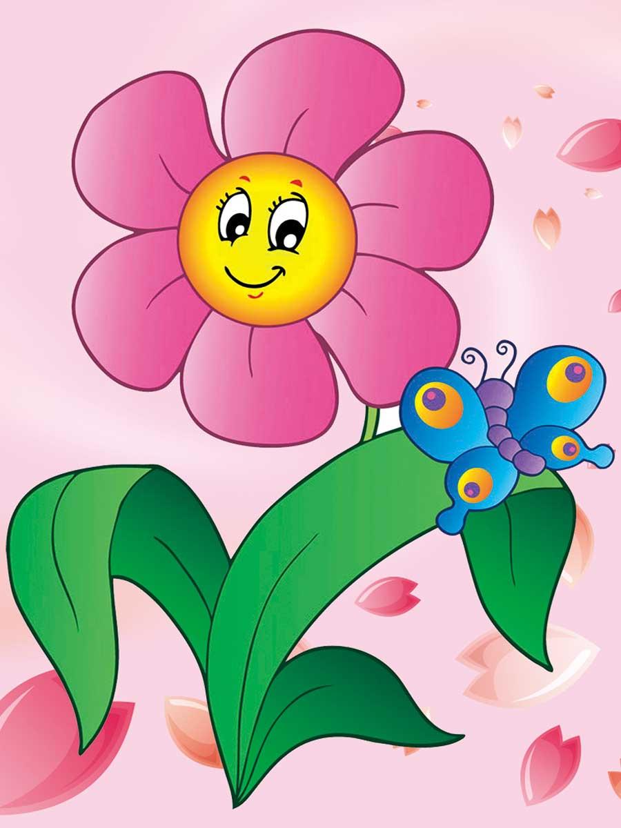 Картинка для детей с цветами