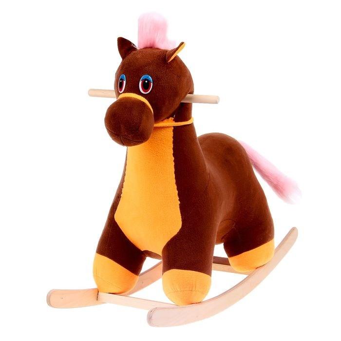 Каталка Аймид 001 Лошадка (мини) коричневый
